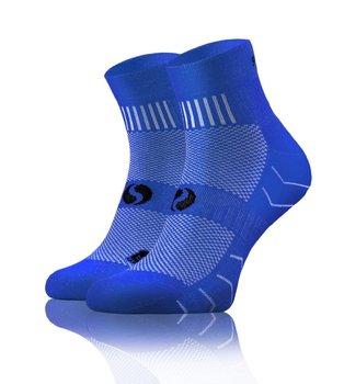 Oddychające sportowe skarpety AMZ z frotte Sesto Senso - niebieski - 35-38-Sesto Senso