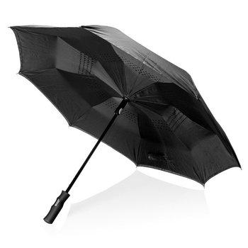 """Odwracalny parasol automatyczny 23"""" Swiss Peak Czarny-SWISS PEAK"""