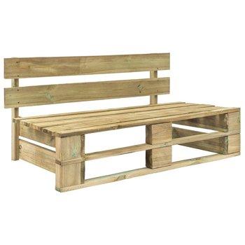 Ogrodowa ławka narożna z palet VIDAXL, brązowa, 110x65x55 cm-vidaXL