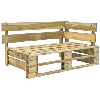 Ogrodowa ławka narożna z palet VIDAXL, brązowa, 110x66x55 cm-vidaXL