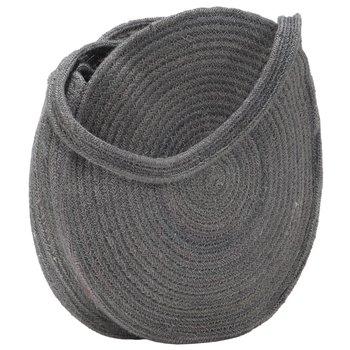 Okrągła torebka na ramię, ciemnoszara, ręcznie robiona, jutowa-vidaXL