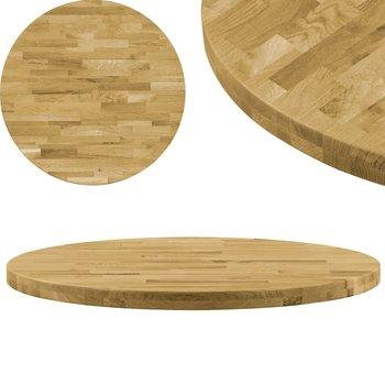 Okrągły blat vidaXL do stolika z litego drewna dębowego, 44mm, 900mm-vidaXL