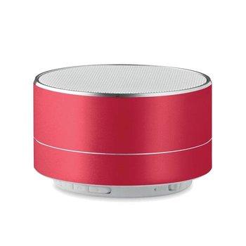 Okrągły głośnik SOUND - czerwony-UPOMINKARNIA