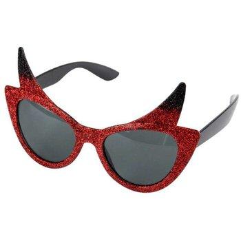 Okulary party, Diabelskie, czerwone Folat | Przyjęcia i