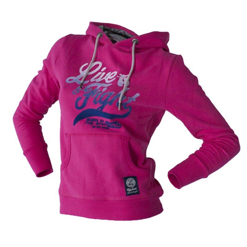 Olimp Live & Fight, Bluza damska, Rise, różowa, rozmiar XS