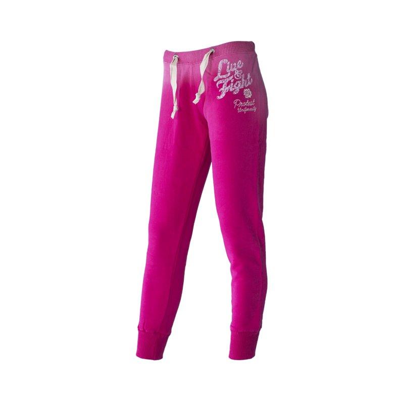 Olimp Live & Fight, Spodnie damskie, Red Rose, różowe, rozmiar L