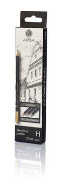 Ołówek do szkicowania, H, Artea, 12 sztuk-Astra