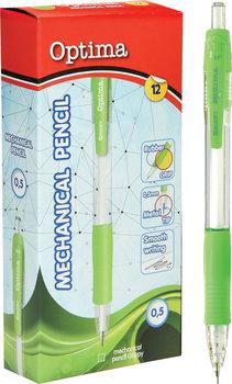 Ołówek mechaniczny, 0,5, zielony, 12 sztuk-Eurocom