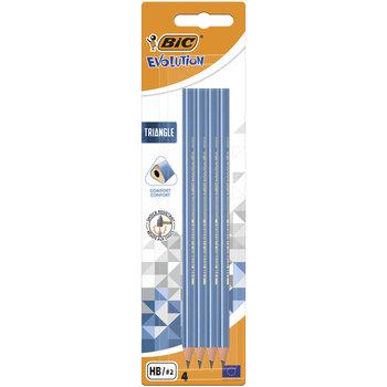 Ołówek trójkątny bez gumki, BIC Evolution Triangle, 4 sztuki-BIC