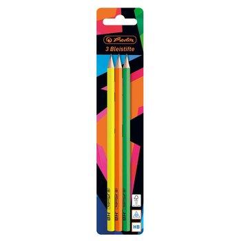 Ołówek trójkątny, Neon Art, HB, 3 sztuki-Herlitz