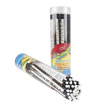 Ołówki z gumką w tubie, 48 sztuk-Easy