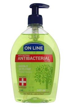 On Line, mydło w dozowniku antybakteryjne lime, 500 ml-On Line
