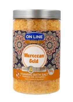 On Line, Senses, pieniąca sól do kąpieli Moroccan Gold, 480 g-On Line