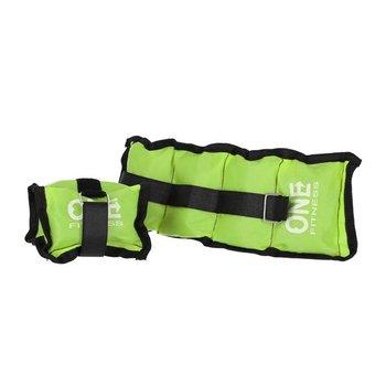 One Fitness, Obciążniki na ręce i nogi, WW01, zielony, 2x0.7 kg-One Fitness