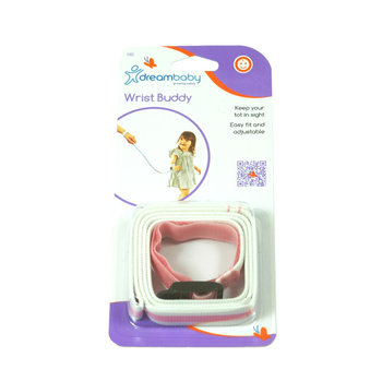 Opaska smycz na rękę nadgarstek, różowa Dreambaby - różowa -Dreambaby