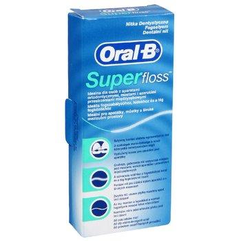 Oral-B, Super Floss, ortodontyczna nić dentystyczna, 50 szt.-Oral-B