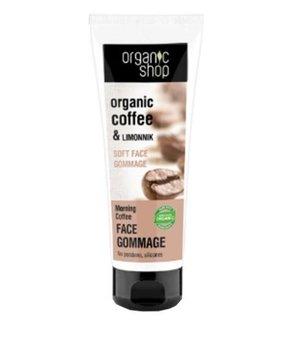 Organic Shop, delikatny peeling do twarzy Kawa i Limonka, 75 ml-Organic Shop