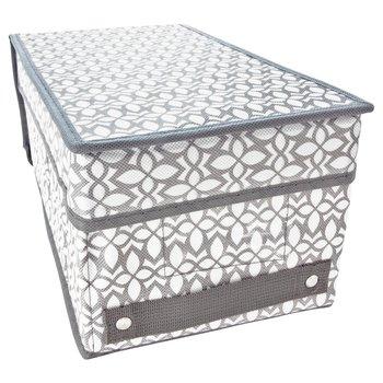 Organizer do szafy średni pudełko tekstylne rozmiar M szary-ASJ Commerce