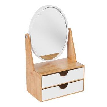 Organizer na kosmetyki z lusterkiem owalnym Tadar Iver 16,5 x 10,2 x 28,8 cm-Tadar