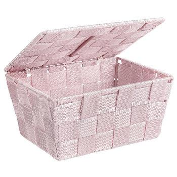 Organizer z pokrywką WENKO Adria, 19x14x10 cm, różowy-WENKO