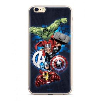 Oryginalne etui Marvel z nadrukiem Avengers 001 do Samsung Galaxy A50s / Galaxy A50 / Galaxy A30s granatowy (MPCAVEN115)-Marvel