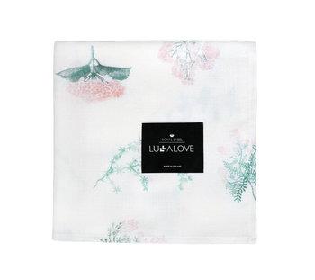 Otulacz Muślinowy 100x100 Cm Herbs Pink Lullalove-LullaLove