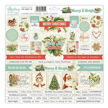 Ozdobne naklejki, Merry&Bright, 30,5x30,5 cm-Mintay Papers