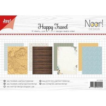Ozdobny papier do rękodzieła Happy Travel A4/12szt.-Joy! Crafts