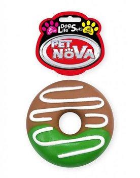 Pączek gumowy z dźwiękiem PET NOVA Donut, 10 cm-PET NOVA