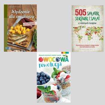 Pakiet: Wędzenie dla smakoszy / Owocowa rewolucja / 505 sałatek, surówek i sałat z różnych krajów-Opracowanie zbiorowe