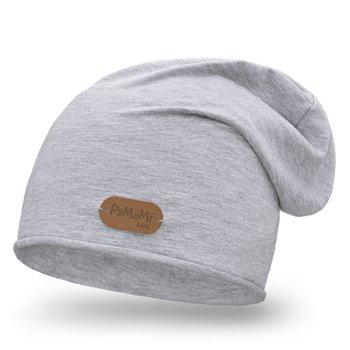 PaMaMi, Wiosenna czapka smerfetka, jasnoszara-PaMaMi