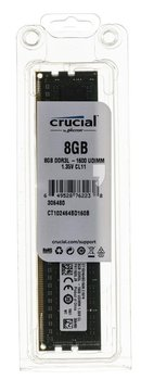 Pamięć UDIMM DDR3L CRUCIAL, 8 GB, 1600 Mhz, 11 CL-Crucial