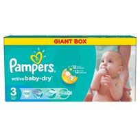 Pampers, Active Baby-Dry, Pieluszki jednorazowe, rozmiar 3, Midi, 108 szt.