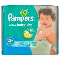 Pampers, Active Baby, Pieluszki jednorazowe, Maxi Plus, MidPack, 32 szt.