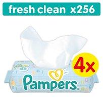 Pampers, Baby Fresh Clean, Chusteczki, 4x64 szt.