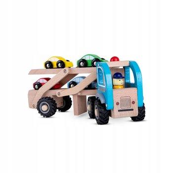 Pan Patyk, drewniana laweta z samochodzikami ciężarówka-Pan Patyk