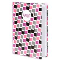 Paperdot, brulion w kratkę, format A5, Cube girl