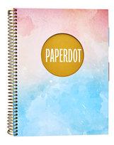 Paperdot Pastels, Kołozeszyt A5 w kratkę, format A5, 100 stron