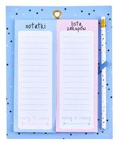 Paperdot Pastels, Lista zakupowa, 50 arkuszy