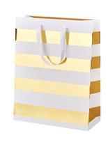 Paperdot Pastels, Torba prezentowa, paski, rozmiar M