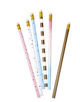 Paperdot Pastels, Zestaw ołówków z gumką, 6 sztuk