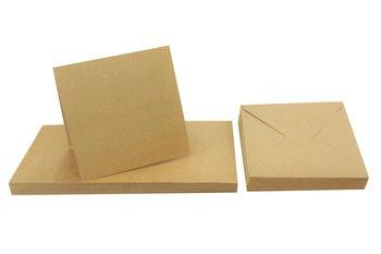 Papeteria / zestaw ekologiczny, Eko Kraft, 300 g 14,5x29 cm big. + koperta K4 - 25 sztuk-Eko Kraft