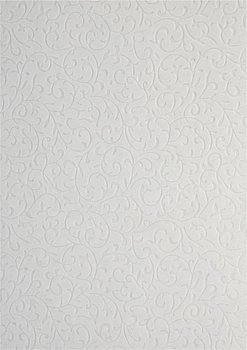 Papier dekoracyjny, biały - zamszowa koronka, 56x76 cm