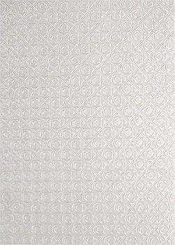 Papier dekoracyjny, metalizowany ecru - małe róże, 18x25 cm, 5 arkuszy