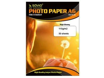 Papier fotograficzny SAVIO PA-02, 115 g/m2, A6, 50 szt-Savio