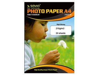 Papier fotograficzny SAVIO PA-08, 210 g/m2, A4, 20 szt-Savio