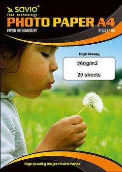 Papier fotograficzny SAVIO PA-16, 260g/m2, A4, 20 szt-Savio