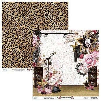 Papier ozdobny, Glam Rock 01, 30x30 cm-Mintay Papers