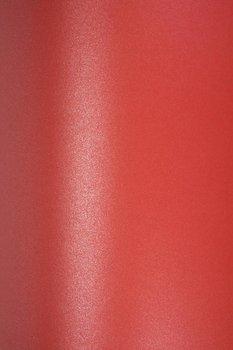 Papier ozdobny metalizowany Majestic, Emporer Red, A4, 10 arkuszy