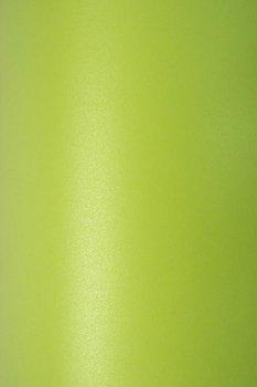 Papier ozdobny, metalizowany, Sirio Pearl, Bitter Green, A4, 10 arkuszy